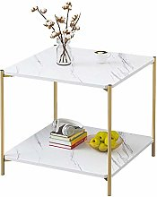 QNN Table,Side End Bedside Sofa Coffee with Shelf