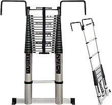 QNN Telescopic Extension Ladder with Hooks and
