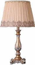 QNN White Lace Fabric Lamp Shade Resin Light Brown
