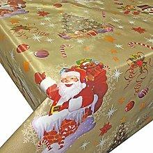 QPC Direct Christmas Festive PVC Oilcloth Table