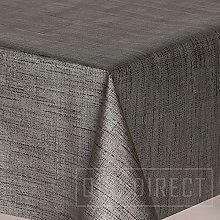 QPC Direct Grey PVC Oilcloth Table Cover Vinyl