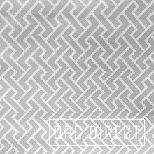 QPC Direct Grey Woven Zigzag Abstract Print PVC