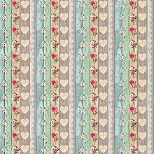 QPC Direct Shabby Wooden Hearts and Flowers Print