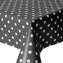 QPC Direct Slate Charcoal Grey Polka Dot Spot