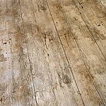 QPC DIRECT Wooden Plank Rustic Wood Effect Print