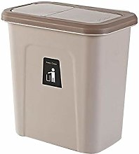 qq Hanging Trash Can with Lid, Small Compact