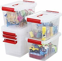 Qqbine 6 Quart First Aid Storage Latch Caddy Box