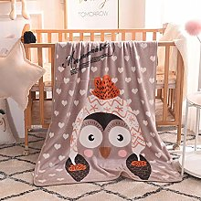 QQFENG Throw Blankets Flannel Children Blanket