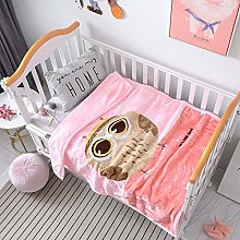 QQFENG Throw Blankets Thickened Flannel Blanket