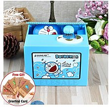 QQSGBD Doraemon Piggy Bank Electric Money Box