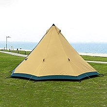 QQW Large Space Pyramid Tipi Tent for 4-6 Persons