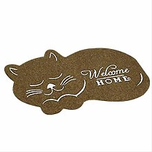 QSJWLKJ 3d Cat Floor Irregular Doormat For