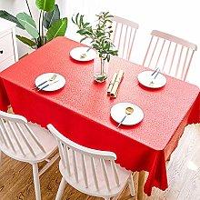 QSYT Table Cloth PVC Tablecloth Washable Wipeable