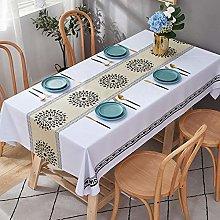 QSYT Table Cloth Waterproof Garden Tablecloth Wax