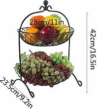 QTQHOME Fruit tray Fruit Bowl,Countertop Metal 2