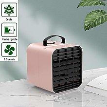QTQHOME Portable Usb Desk Fan With 3
