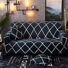 QTSUANNAI Sofa Cover,Checkered Pattern Elastic
