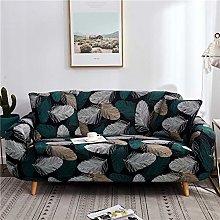 QTSUANNAI Sofa Cover,Feather Pattern Elastic Sofa