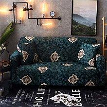 QTSUANNAI Sofa Cover,Floral Pattern Elastic Sofa
