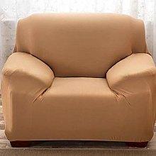 QTSUANNAI Sofa Cover,Khaki Sofa Cover Solid Color