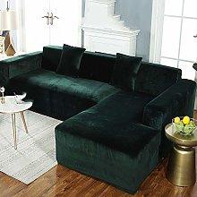 QTSUANNAI Sofa Cover,Sofa Cover Dark Green Color
