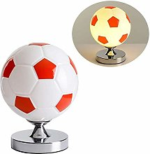 QTWW Football Table Lamp Modern Glass Lampshade