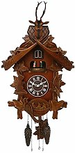 Qtz Cuckoo Clock - Lrg Wooden with Roundabout - 2