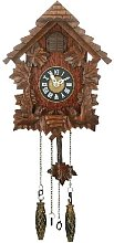 Qtz Cuckoo Clock - Wooden - Pitched Roof