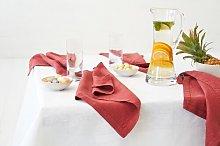 Quackenbush Linen Napkin Mercury Row Colour: Red