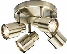 Quad GU10 Spotlight in Antique Brass