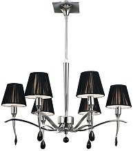 Quade 6-Light Shaded Chandelier Ebern Designs