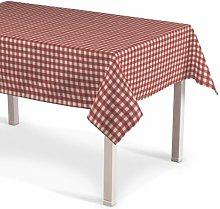 Quadro Tablecloth Dekoria Colour: Red and ecru