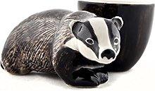 Quail Ceramics - Badger Figure Egg Cup