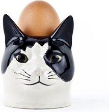 Quail Ceramics - Barney B&W Cat Face Egg Cup -