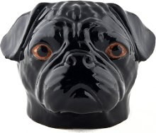 Quail Ceramics - Black Pug Egg Cup