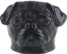 Quail Ceramics Black Pug Face Egg Cup