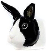 Quail Ceramics - Black White Rabbit Egg Cup