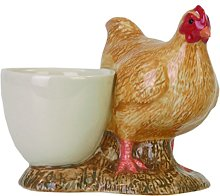 Quail Ceramics Buff Orpington Chicken Design Egg