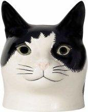 Quail Ceramics - Cat Face Egg Cup - Barney (White