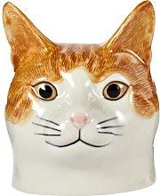 Quail Ceramics - Cat Face Egg Cup - Squash (Ginger