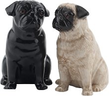 Quail Ceramics - Fawn and Black Pug Salt and