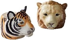 Quail Ceramics - Hand Painted Lion And Tiger Egg