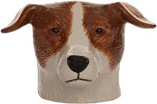 Quail Ceramics - Jack Russell Face Egg Cup - Brown