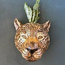 Quail Ceramics - Leopard Wall Vase -