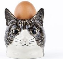 Quail Ceramics - Millie Tabby Cat Face Egg Cup -