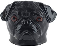 Quail Ceramics - Pug Face Egg Cup - Black