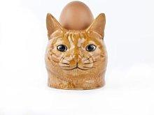 Quail Ceramics - Vincent Ginger Cat Face Egg Cup -