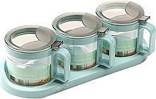 Quality Glass Seasoning Box Set Spice Container