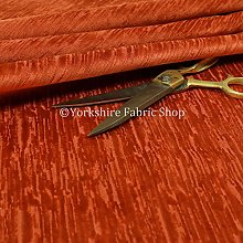 Quality Soft Textured Orange Velvet Velour