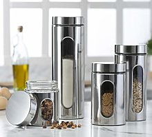 Quality Stainless Steel Canister Set for Kitchen